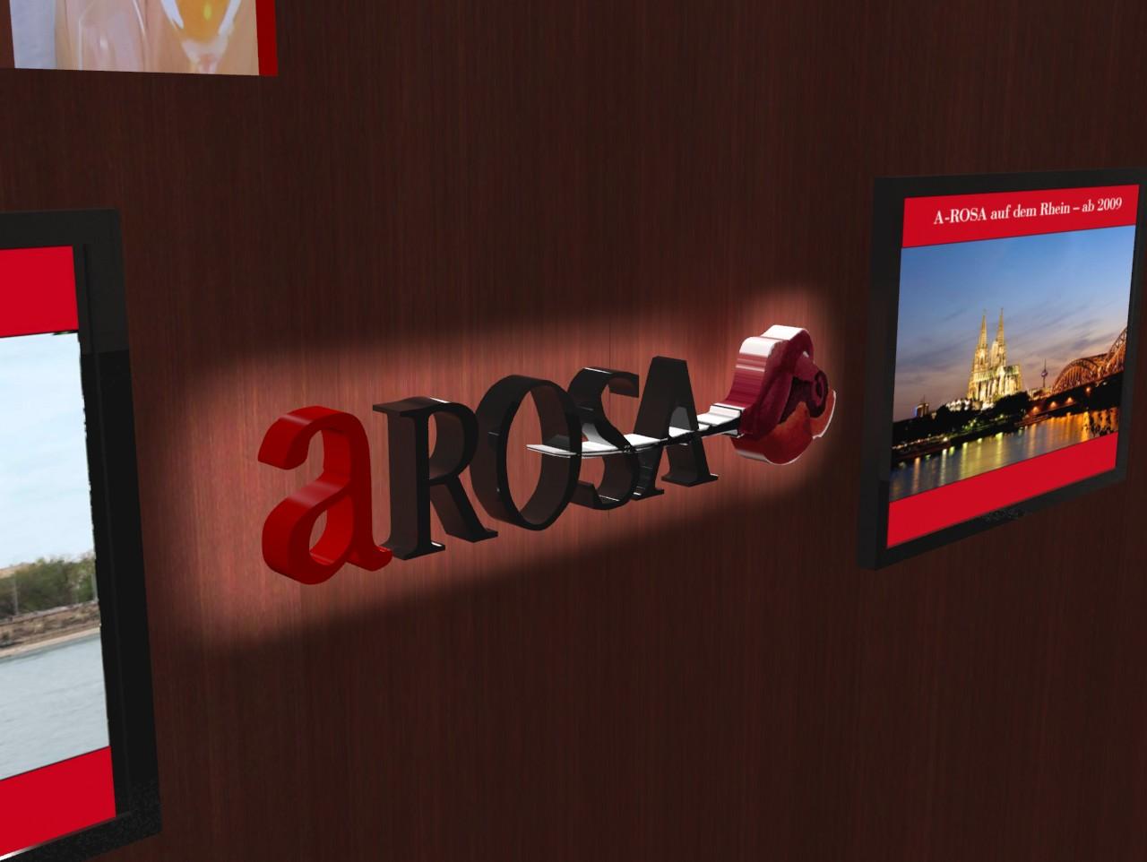 ArosaLED A1 Rahmen+Logo detail